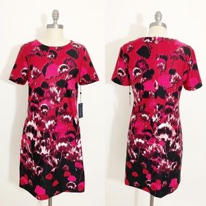 Tommy Hilfiger Flower Dress Shirt Dress Red Pink